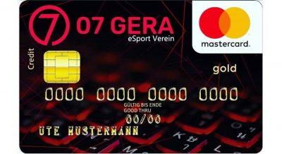 """07 Gera eSport – Kreditkarte"""" der Sparkassen Gera-Greiz"""